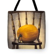 Pumpkin On Chair Tote Bag