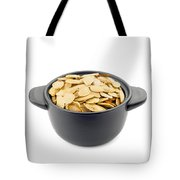 Pumpkin Seeds In A Black Cup Tote Bag
