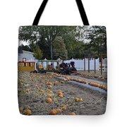 Pumpkin Train Tote Bag