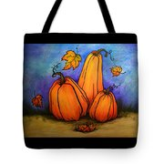 Pumpkin Trio Tote Bag