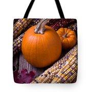 Pumpkins And Corn Tote Bag