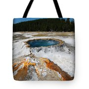 Punch Bowl Spring In Yellowstone Tote Bag