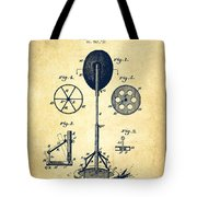 Punching Apparatus Patent Drawing From 1895 -vintage Tote Bag