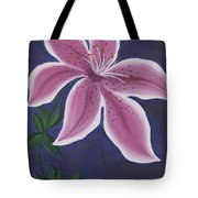 Punctilious Pink Daylily Tote Bag
