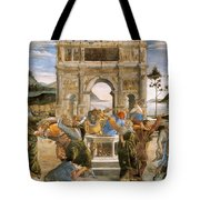 Punishment Of Korah And Dathan And Abiram Tote Bag