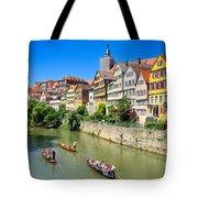 Punts On River Neckar In Lovely Old Tuebingen Germany Tote Bag