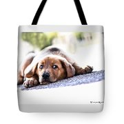 Puppet Dog Tote Bag
