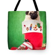 Puppy For Christmas Tote Bag