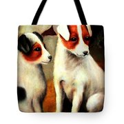 Puppy Love 2 Tote Bag by Hazel Holland