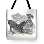 Puppy Love - Doberman Pinscher Pup - Color Tinted Tote Bag