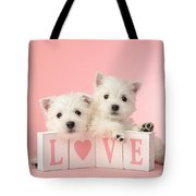 Puppy Love Tote Bag by Greg Cuddiford