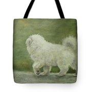 Puppy Struttin' Tote Bag by Elizabeth Ellis