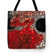 Pure Passion 2 - Stone Rock'd Red And Black Art Painting Tote Bag by Sharon Cummings