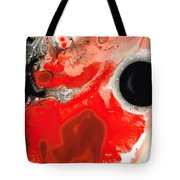 Pure Passion - Red And Black Art Painting Tote Bag