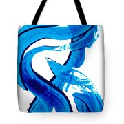 Pure Water 302 - Blue Abstract Art By Sharon Cummings Tote Bag