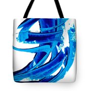 Pure Water 304 - Blue Abstract Art By Sharon Cummings Tote Bag