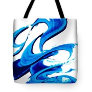 Pure Water 314 - Blue Abstract Art By Sharon Cummings Tote Bag