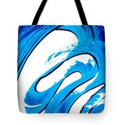 Pure Water 315 - Blue Abstract Art By Sharon Cummings Tote Bag