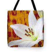 Pure White Lily Tote Bag
