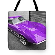 Purple 1968 Corvette C3 From Above Tote Bag