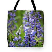 Purple Alaskan Lupines Tote Bag