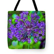Purple Allium Flower Tote Bag