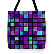 Purple And Aqua Sudoku Tote Bag