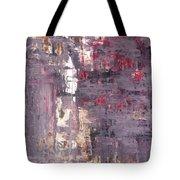 Vineyard - Purple And Beige Abstract Art Painting Tote Bag