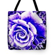 Purple And Blue Rose Expressive Brushstrokes Tote Bag