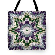 Purple And Green Patchwork Art Tote Bag