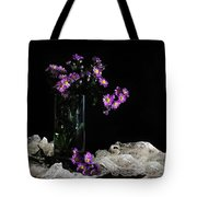Purple And Lace Tote Bag