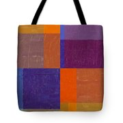 Purple And Orange Get Married Tote Bag by Michelle Calkins
