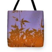 Purple And Orange Haiku Tote Bag