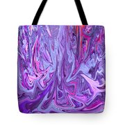 Purple And Pink Abstract Tote Bag