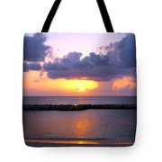 Purple And Pink Sunset Caribbean Dream Tote Bag