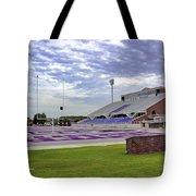 Purple And Silver Tote Bag