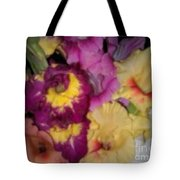 Purple And White Flowers Tote Bag