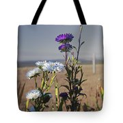 Purple And White Flowers In The Sun Tote Bag