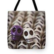 Purple And White Tote Bag