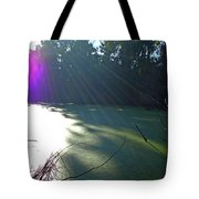 Purple Angel Of Lagoon Tote Bag