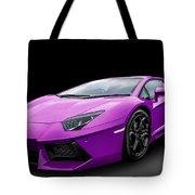 Purple Aventador Tote Bag