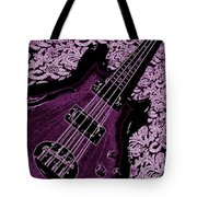 Purple Bass Tote Bag by Chris Berry
