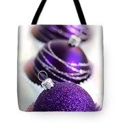 Purple Baubles Tote Bag
