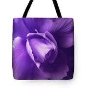 Purple Begonia Flower Tote Bag