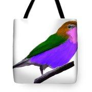 Purple Belly Warbler Tote Bag