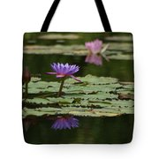 Purple Blossoms Floating Tote Bag