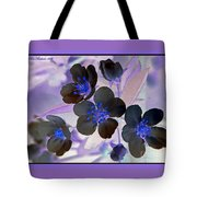 Purple Blue And Gray Tote Bag