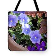 Bright Purple Pansy Tote Bag