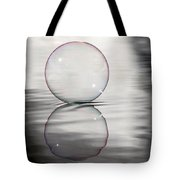 Purple Bubble On Grey Tote Bag