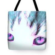 Purple Cat Eyes Tote Bag